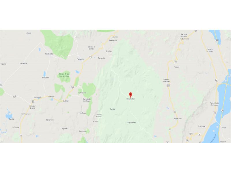 Terreno cerca de Chiquilistlán  Terreno de 41 hectáreas, se encuentra ubicado cerca de Chiquilistlán a 1:30 de Guadalajara, tiene venero de agua que se acumula en una pila hecha de material, lo hace ideal para la siembra de arándanos. 1