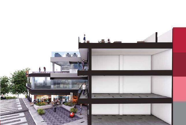 Plaza B San Ignacio es un concepto inmobiliario de uso comercial desarrollado por BRADA Grupo Inmobiliario, el cual integra la armonía en cada detalle. Ubicada en una de las zonas de gran plusvalía dentro de la zona metropolitana de Guadalajara, como lo es la colonia Chapalita, B Plaza San Ignacio concentra en sus alrededores la mejor oferta de restaurantes, cafés, escuelas, hospitales y muchos más. Cuenta con 1235.44 m2 de construcción, divididos en 18 locales distribuidos en los tres niveles además del Roof Garden, un estacionamiento amplio de 235 m2. Fecha de entrega: diciembre 2020. EasyBroker ID: EB-DZ5477 2