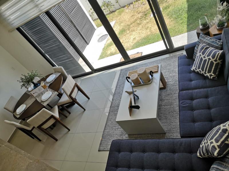 casa nueva en fraccionamiento de 273 casas coto  con  alberca pista de joggin ,terraza, gym,  zona infantil .  casa 3 recamaras,  con  aire acondicionado,  2.5  baños,  roof garden.  cocina equipada integral. 22