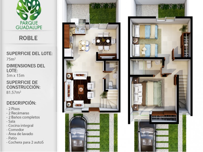 casa de dos recamaras,  sala y comedor,  cocina integral, con  mosquiteros, un  baño  con  cristal,  área de lavado  techada. protección en  escalera   8