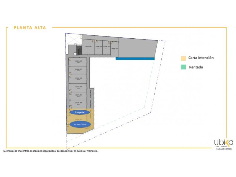 Local Comercial en Venta en Mariano Otero, Zapopan Invierte en Plaza Mariano Otero, ubicación privilegiada, regreso a casa, sobre una de las principales vialidades de la ciudad, con alto tráfico vehicular, en una zona consolidada, precio promedio vivienda 2 mdp., más de 62,000 habitantes. Plaza comercial de servicios de con 29 locales comerciales en 2 niveles y 73 cajones de estacionamiento. Nuevo modelo de inversión. Pool de Rentas por medio de Fideicomiso. Excelente inversión inmobiliaria donde puede ser dueño de un porcentaje del valor total del proyecto, por medio de una participación a través de Fideicomiso. El ingreso por rentas no depende de una unidad privativa y con esto disminuye riego. Forma de pago: 40% de enganche y 10 mensualidades a partir del inicio de obra (Junio 2020) Entrega Junio 2021 5